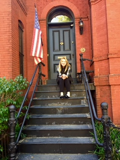 Outside of my home in Washington, DC. I get a little weepy thinking about this moment so moving on....