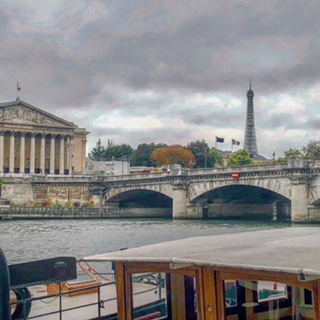 """First run along the Seine. I may or may not have been thinking, """"WTF did I just do with my life?"""""""