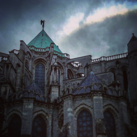Clouds rolling in over Chartres