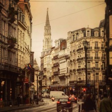 Business trip to Brussels where a friend of mine was determined to show me the beautiful parts of the city. He said to just close my eyes in the places between.