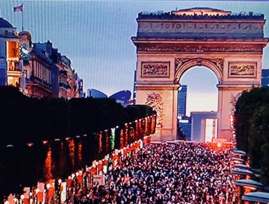 This was taken just a few minutes after France won the semi-finals...