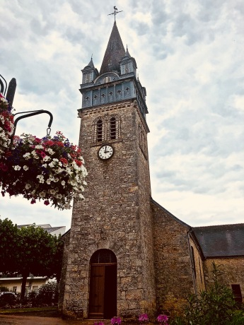 The Parisian's mother, who passed away six years ago, was named Madeleine and so it was very special to visit the Eglise de Saint Madeleine in Bagnoles de l'Orne in Lower Normandy on the Day of Saint Madeleine.