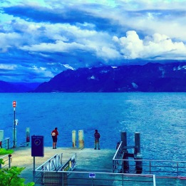 Taking a pause in Lausanne, Switzerland