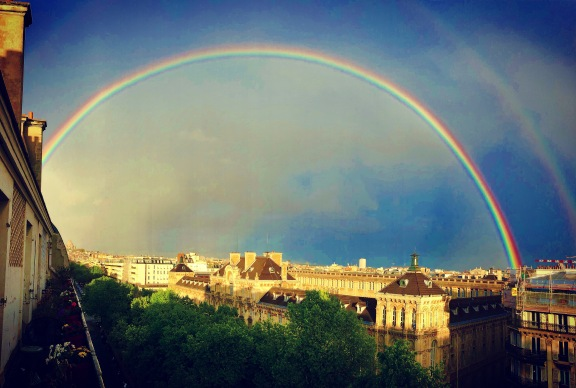 Double rainbow as seen from my apartment in Batignolles April 2018