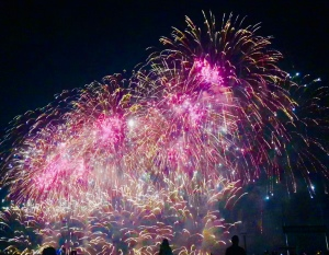 Fireworks in Cannes August 2018