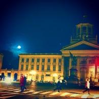 Moonrise in Brussels