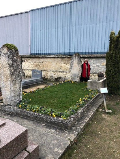 My mother at Gurdjieff's grave in Fontainebleau - truly amazing energy