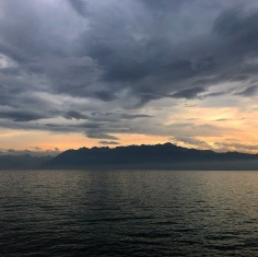 The Alps from Lake Geneva in Laussanne